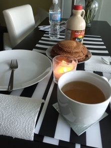 Protein pancakes & green tea :)